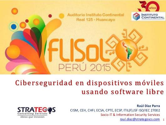 Strategos Consulting Services presente en FLISOL 2015 en Huancayo